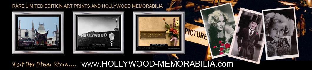hollywood memorabilia banner