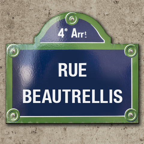 RUE BEAUTRELLIS STREET SIGN