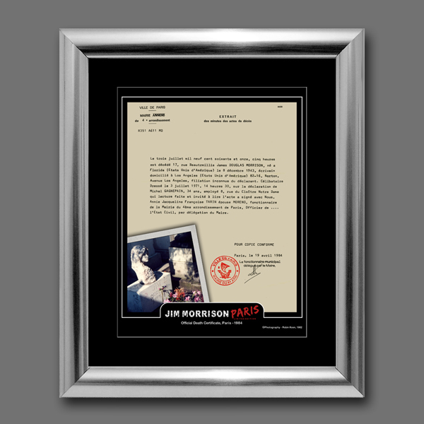 jim morrison death certificate